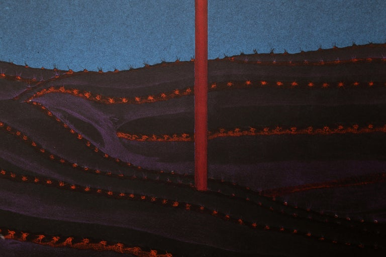 Night Flower IV, Surrealist Screenprint - Black Figurative Print by Unknown