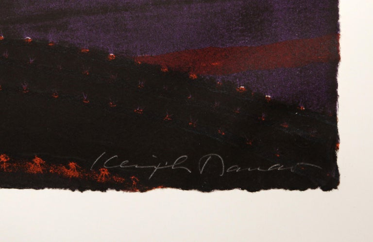 Night Flower IV, Surrealist Screenprint For Sale 1