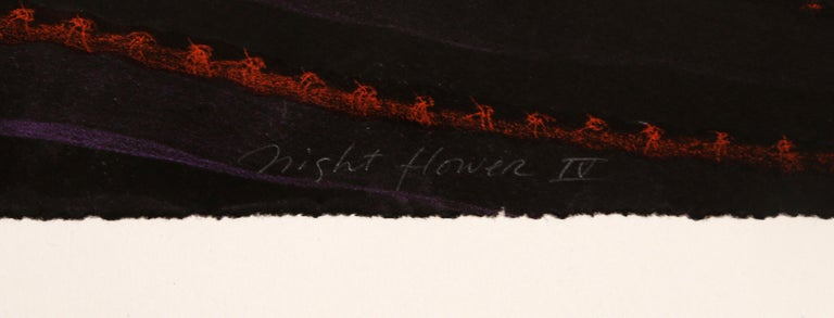Night Flower IV, Surrealist Screenprint For Sale 2