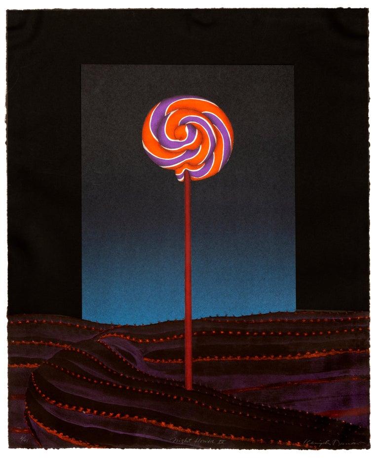 Unknown Figurative Print - Night Flower IV, Surrealist Screenprint