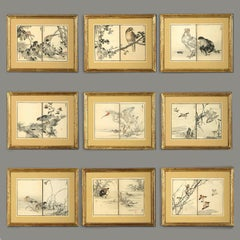 Nine Late 19th Century Meiji Period Woodblock Prints