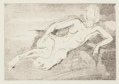 Nude - Original Etching - 1960s