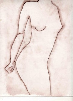 Nude - Original Etching and Drypoint - Mid-20th Century