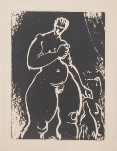 Nude - Original Etching on Paper - Mid-20th Century
