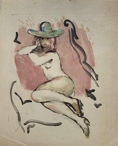 Nude - Original Lithograph - 1930s