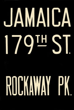 NYC subway sign - Jamaica 179th St / Rockaway Pk
