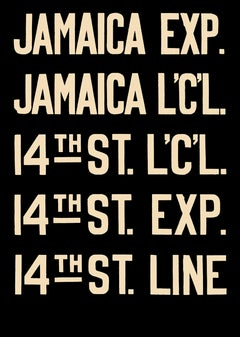 NYC subway sign - Jamaica Line