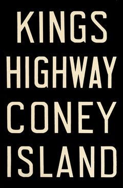 NYC subway sign - King's Highway / Coney Island