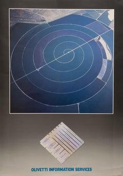 Olivetti Information Service - Original Offset Print - 1980s