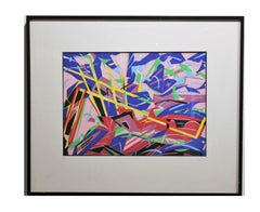 """""""On The Way Out"""" Colorful Geometric Pastel Colored Abstract Edition 42 of 100"""