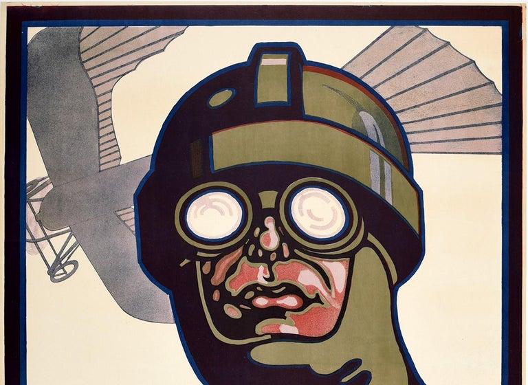 Original Antique Poster Prince Heinrich Flug 1913 Flight Race Early Aviation Art - Print by Unknown