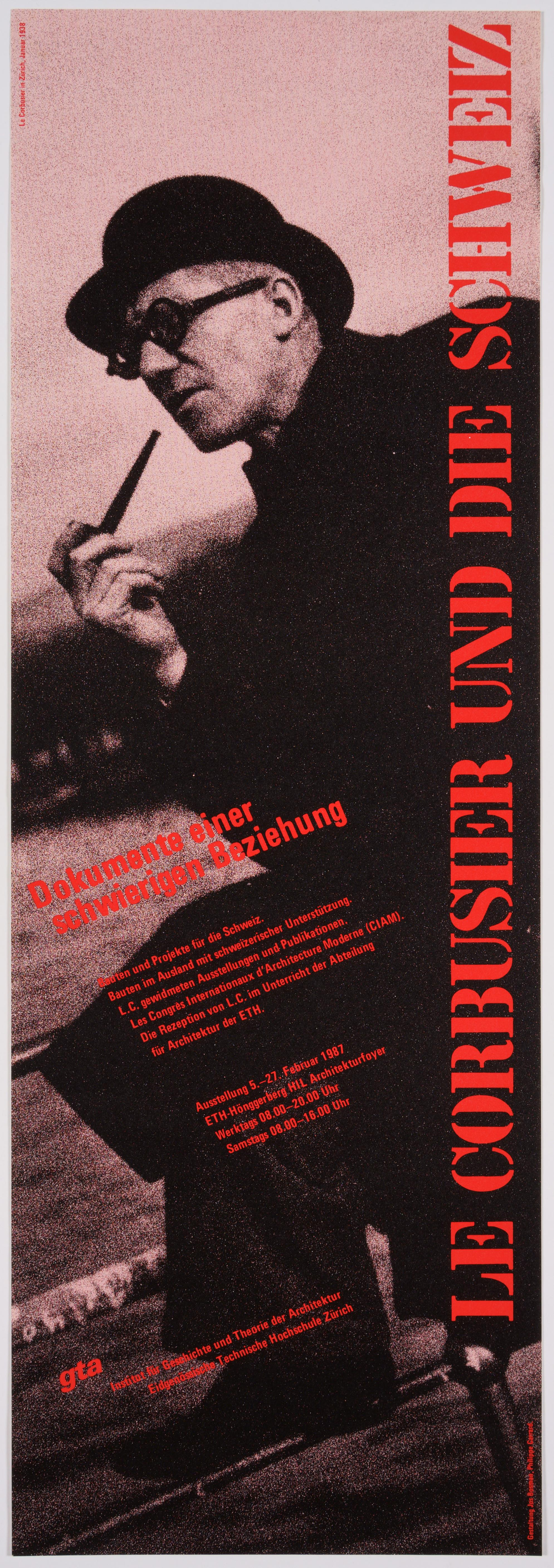 Original Exhibition Poster –Le Corbusier's difficult relation to Switzerland