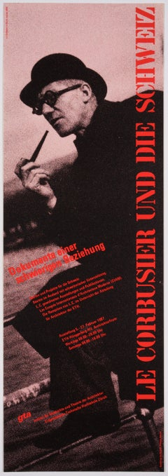 Original Exhibit Poster – Le Corbusier's difficult relation to Switzerland, 1987
