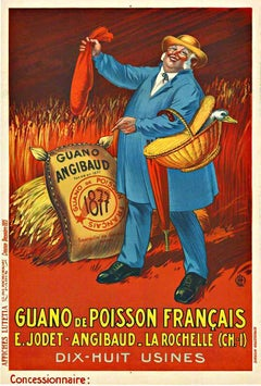 Original French vintage poster Guano de Poisson Francais