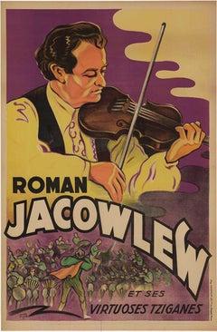 Original Roman Jacowlew vintage poster lithograph