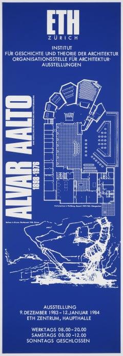 Alvar Aalto – Original Swiss Vintage Exhibition Poster