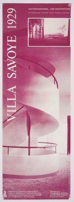 Le Corbusier's Villa Savoye 1929 – Original Swiss Vintage Exhibition Poster