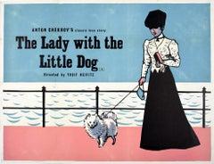 Original Vintage Film Poster Lady With The Dog Chekov Romantic Movie Love Story