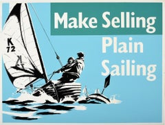 Original Vintage Poster Make Selling Plain Sailing Motivation Sport Theme Design