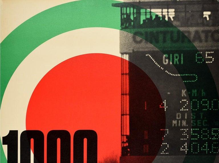 Original Vintage Poster Porsche 1000 Chilometri Di Monza Race Track Motor Sport - Print by Unknown