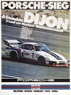 Original Vintage Poster Porsche 935 6 Hour Dijon Sports Car Champion Auto Racing