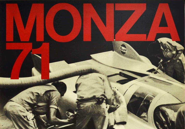 Original Vintage Poster Porsche Gulf 917 Victory 1000km Monza Italy Auto Racing - Print by Unknown