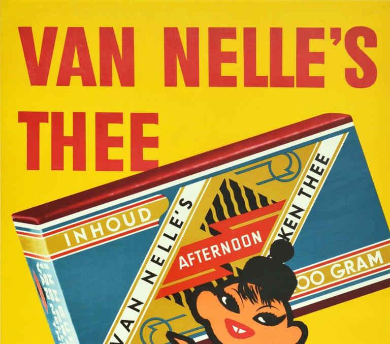 Original Vintage Poster Van Nelle's Tea Van Nelle Quality Coffee Tobacco Holland - Print by Unknown
