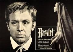 Original Vintage Soviet Film Poster Hamlet William Shakespeare Play USSR Movie