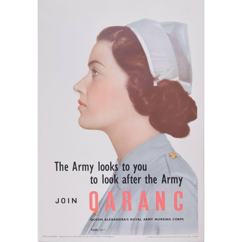 Original WW2 Poster Join QARANC – Queen Alexandra's Royal Army Nursing Corps