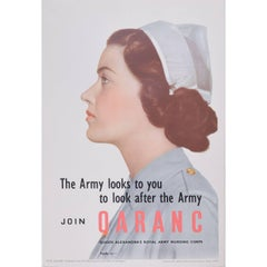 Original WW2 Poster Join QARANC – Queen Alexandra's Royal Army Nursing Corps