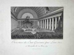 Ouverture des Etats Géneral - Original Etching - Late 18th Century