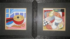 Pair of Cubist Lithograph