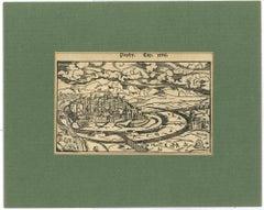Paphy - Original Woodcut Print - Mid 19th Century