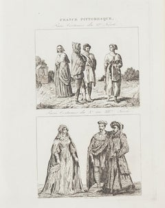 Paris Costume - Original Lithograph  - 19th Century