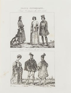 Paris Costumes - Original Lithograph  - 19th Century