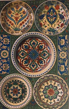 Persian Fantasy - Original Lithograph  19th Century