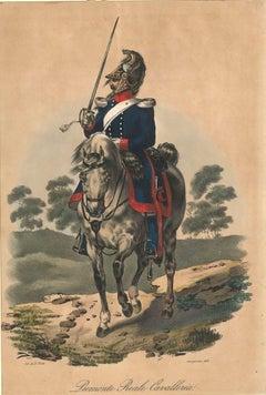 Piemonte Reale Cavalleria - Lithograph Mid 1800