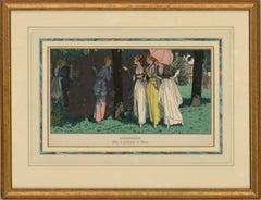 Pierre Brissaud (1885–1964) - 1914 Pochoir Print, L'Indiscrete