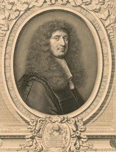 Pieter Van Schuppen - 1665 Engraving, Gabriel Nicolas De La Reynie
