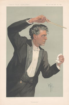 Pietro Mascagni, Vanity Fair music portrait chromolithograph, 1912