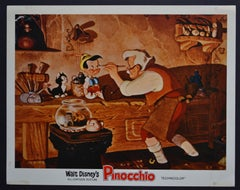 """Pinocchio"" Original American Lobby Card of Walt Disney's Movie, USA 1940."