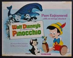 """Pinocchio"" Original American Lobby Card of Walt Disney's Movie, USA 1940."