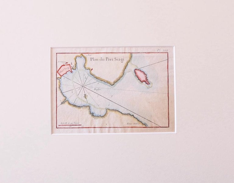Plan of Port Siagi - Original Etching by Joseph Roux - 1795 - Print by Unknown
