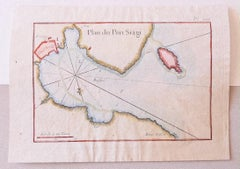Plan of Port Siagi - Original Etching by Joseph Roux - 1795