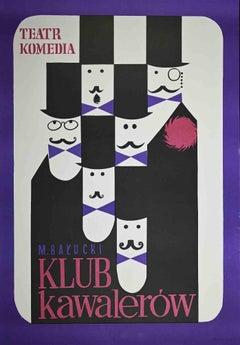 Polish Poster of Klub Kawalerow - Original Offset - 1970s