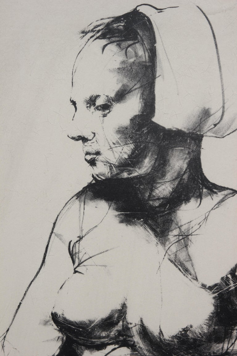 Portrait of a Nude Woman Lithograph Edition 12/35 - Print by Unknown