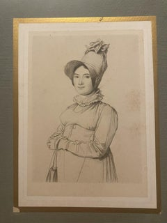 Portrait of a Woman - Original Etching on Paper - 19th Century