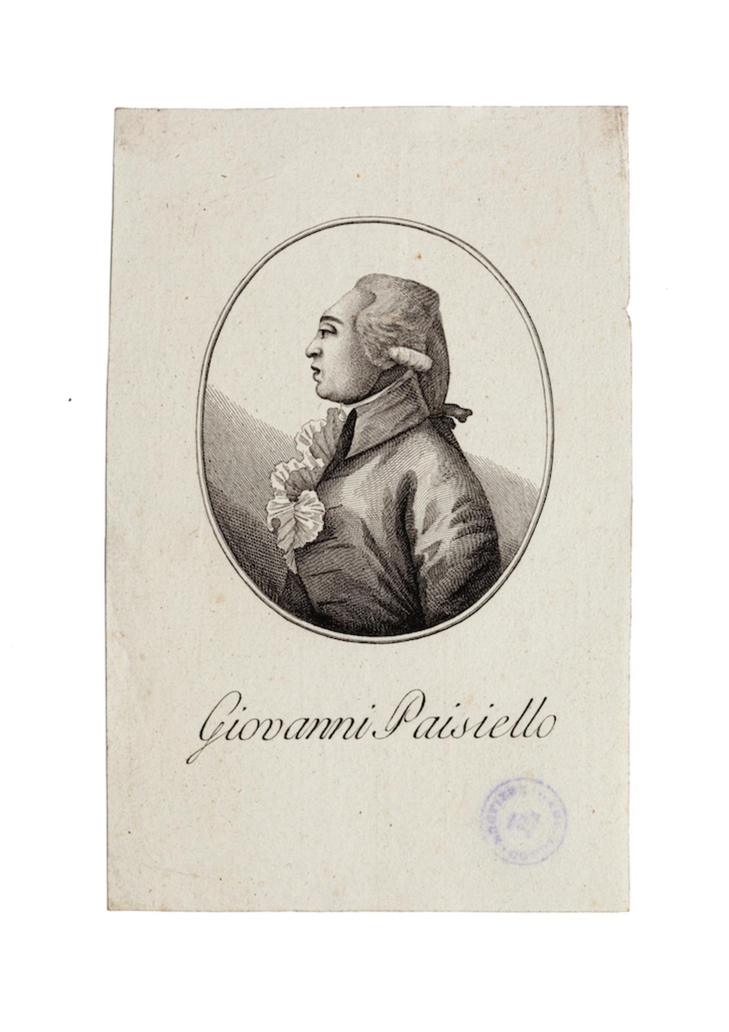 Portrait of Man - Original Etching  - 18th Century
