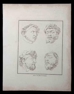 Portrait of Men - Original Etching - 1810
