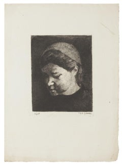 Portrait - Original Etching - 1937